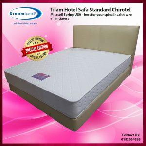 TILAM HOTEL SAFA STANDARD CHIROTEL  9 INCI TEBAL